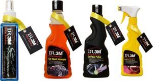 DR3M small combo kit-car Air Freshener (Floral)200ml./ Leather Dresser 250ml./ Car wash shampoo 250ml./ Car wax polish 250ml./ Car Washing Liquid