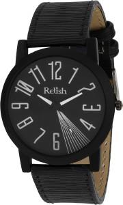 Relish RE-S8060BB Black SLIM Analog Watch  - For Men