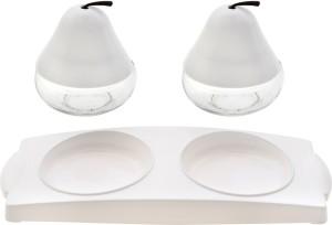 Rich Craft International FUN PEAR WITH LID Glass Bowl Set