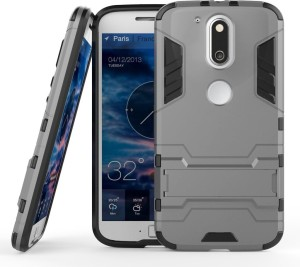 finest selection b487f 47163 Mobile Mart Back Cover for Motorola Moto G4 PlusSilver Grey