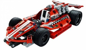 Montez 158 PCS 3412 Dazzling Red Racing Car King Steerer Block Set with Pull Back Technic (Red)
