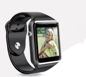 Onskart WatchPhone A1 Sim, Bluetooth, Micro SD Card Android SmartwatchBlack  Strap Free
