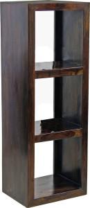 TimberTaste LEO Three Shelves Rectangular Display Unit Solid Wood Open Book Shelf