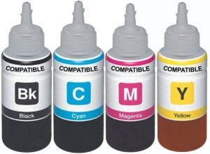 Dubaria Refill Ink For Use In Canon Pixma Ink Tank G 2000 Multi-Function Printer - Black, Cyan, Magenta, Yellow - 100 ML Each Bottle Multi Color Ink