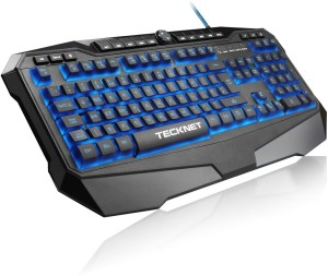 Tecknet X702 Gryphon Illuminated Programmable Gaming Keyboard Wired USB Gaming Keyboard