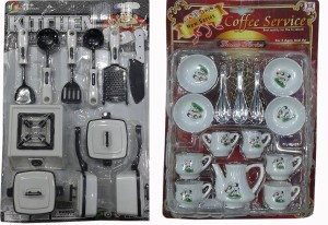 Ss Traders 25 Peices Kids Kitchen Set For Girls With Cup Sets Best