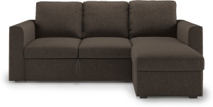 Urban Ladder Kowloon Sectional Sofa Cum Bed with Storage Double Fabric Sofa Bed