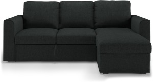 Urban Ladder Kowloon Sectional Sofa Cum Bed with Storage Double Solid Wood, Fabric Sofa Bed