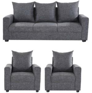GIOTEAK Solid Wood 3 1 1 Grey Sofa Set Best Price in India   GIOTEAK ...