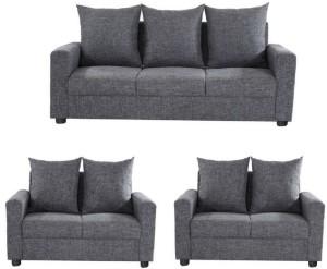 GIOTEAK Fabric 3 + 2 + 2 Grey Sofa Set