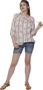 LILIUM FASHIONS Casual 3/4th Sleeve Printed Women Multicolor Top