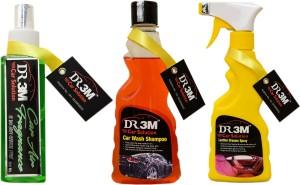 DR3M small combo kit - Car Air Fragrance(Merigold)200ml., Leather Dresser 250ml., Car Wash Shampoo 250ml. Car Washing Liquid