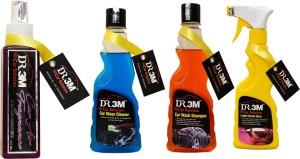 DR3M small combo kit- car air fragrance (Breeze)200ml./ car glass cleaner 250ml./ car wash shampoo 250ml./ Leather Polish 250ml. Car Washing Liquid