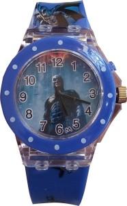 SS Traders Blue Batman Seven lights Watch  - For Boys