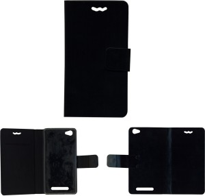 best service 98a1f 0563c MYSHA Flip Cover for Xolo Era 4gBlack, Artificial Leather