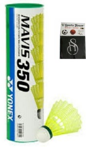 Yonex mavis 350 (pack of 6) Nylon Shuttle  - Yellow