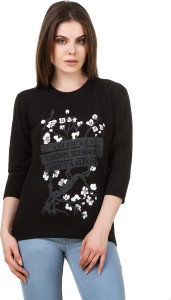 Christy World Casual 3/4th Sleeve Printed Women Multicolor Top