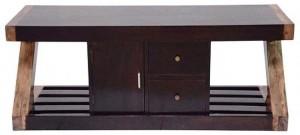 Ringabell Z Shape Solid Wood TV Entertainment Unit