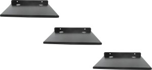 DECZO Set of 3 Stylish Metal Made Multipurpose Set Top Box / Speaker Iron Wall Shelf