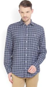 Gant Men Checkered Casual White, Blue Shirt