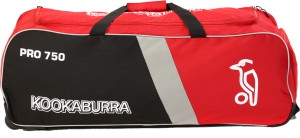 a55a7fe081c KOOKABURRA PRO 750 CRICKET WHEEL BAG Red Black Silver Wheeler Best ...
