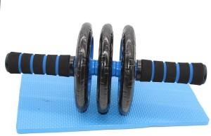 Credence Triple Wheel Ab Roller with Knee Mat Ab Exerciser