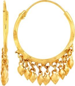 GoldNera 22Kt Gold Polish Opulent Brass Hoop Earring