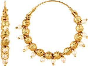 GoldNera 22Kt Gold Polish Lissome Brass Hoop Earring