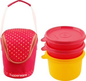 Tupperware PRINCESS 3 CONTAINER LUNCH BOX 3 Containers Lunch Box