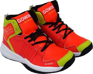 Gowin By Triumph Neo Boost_Orange/Lime Basketball Shoes