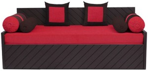Auspicious Home Kaiden (2 Pillows, 4 Bolsters) Double Fabric Sofa Bed