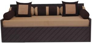 Auspicious Home Kaiden (2 Pillows, 5 Bolsters) Double Fabric Sofa Bed