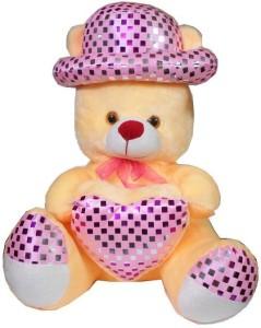 MYBUDDY sweet teddy bear with hat & heart  - 52 cm