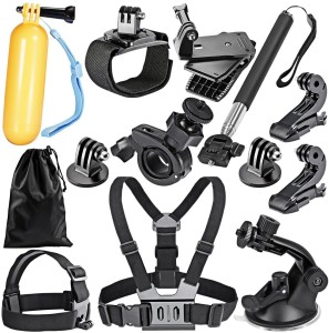 Yantralay 12 in 1 Accessories Kit for GoPro Hero, SJCAM Yi & Other Action Cameras (13 Items) Strap