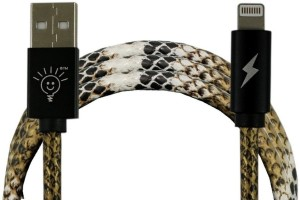 Parallel Universe Leather Stitched Lightning Cable