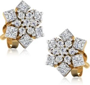 e800f4d7de84 IskiUski Bhramini Diamond Earrings Swarovski Crystal Sterling Silver Stud  Earring Best Price in India