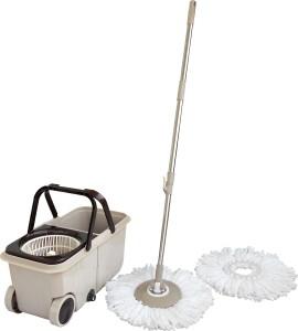 WCSE Twin Bucket Spin with trolley wheel Mop Set
