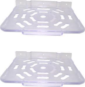 RoyaL Indian Craft Set of 2 Super Look Acrylic Multipurpose Set Top Box / Speaker Iron Wall Shelf