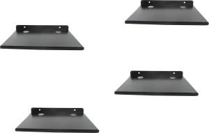 DECZO Set of 4 Stylish Metal Made Multipurpose Set Top Box / Speaker Iron Wall Shelf