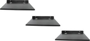 RoyaL Indian Craft Rust Proof Set of 3 Hard Metal Multipurpose Set Top Box / Speaker Iron Wall Shelf