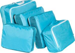 Global Bazarro Nylon Blue 5-piece Travelling Bag Set