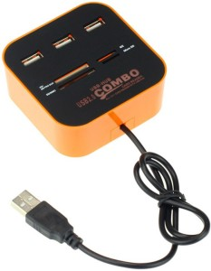 BB4 All In One Combo Hub 3 Port 2.0 Card Reader MULTI COLOR USB Adapter