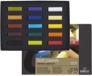 Royal Talens Round Shaped Rembrandt Soft Pastel Set of 15 Half Length Pastels Crayons