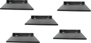 DECZO Set of 5 Stylish Metal Made Multipurpose Set Top Box / Speaker Iron Wall Shelf