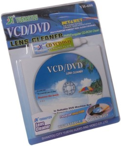 Dragon CD/DVD/VCD Head Dirt Cleaner Restore Kit Disc Lens Laser +Cleaning fluid 1 Set for Computers, Gaming, Laptops