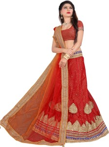 5d3190aec4 Divastri Net Embroidered Semi stitched Lehenga Choli Material Best Price in  India | Divastri Net Embroidered Semi stitched Lehenga Choli Material  Compare ...