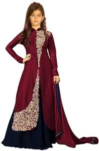 fec7416b01 Wommaniya Impex Girls Lehenga Choli Ethnic Wear, Fusion Wear Embroidered Lehenga  Choli