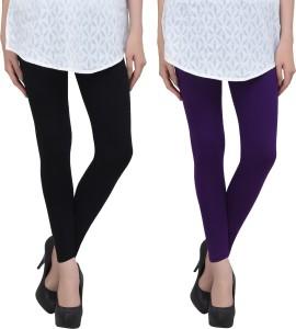 Livener Women Black, Purple Leggings