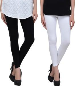 Livener Women Black, White Leggings