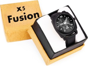 X5 Fusion BLK_STRP_MAP_BOX Analog Watch  - For Men